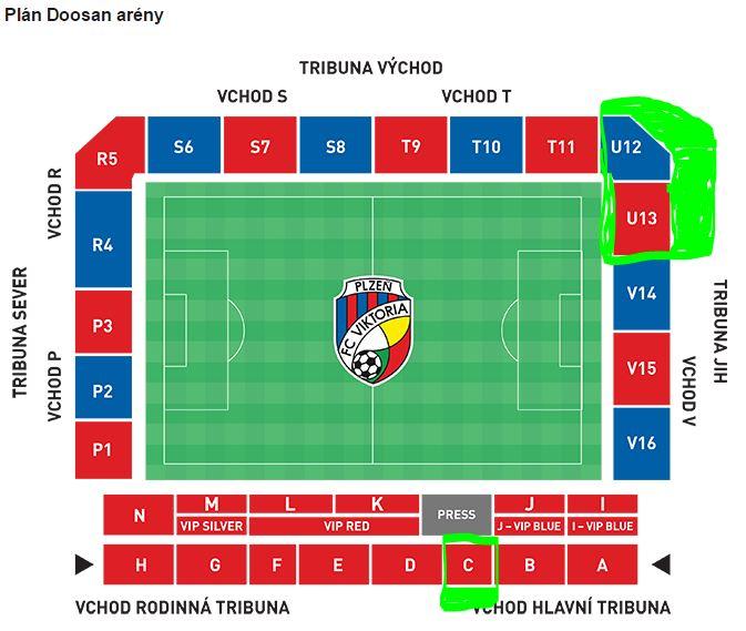Sitzplan Doosan Arena
