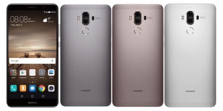 Duaml-SIM Handy Mate 9 von Huawei mit Leica-Kamera